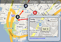 Interactive Street Map by importing Google Map image