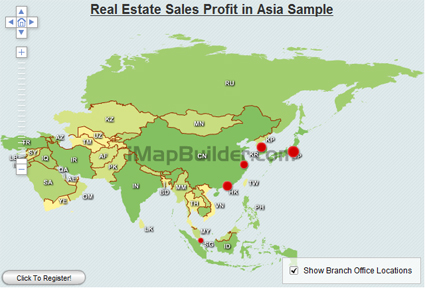 Asia Map with country names Interactive Map Map Making Software