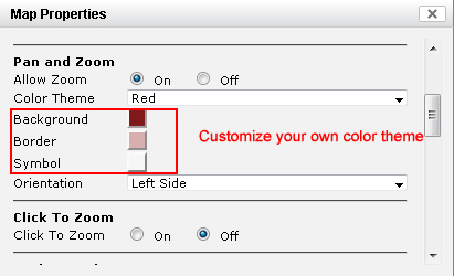 customize zoom bar color