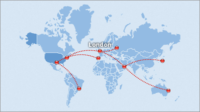 interactive flight route map
