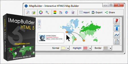 IMapBuilder Create Interactive Map Software - Us map making software