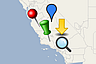 categorize pinpoints with icons or symbols in maps