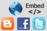 publish & embed map into web pages, blogs or share in social networks