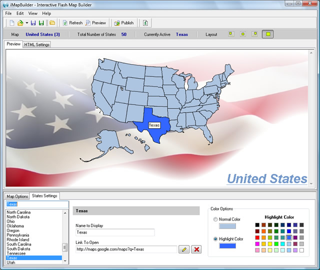 Click to view iMapBuilder Interactive Flash MapBuilder 6.86 screenshot