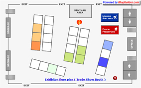 Trade show floor plan map interactive map map making for Trade show floor plan