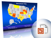 How To Insert Map In PowerPoint Slide - Interactive us map for powerpoint