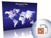 PowerPoint Maps - World Map (7 continents) (PPT)