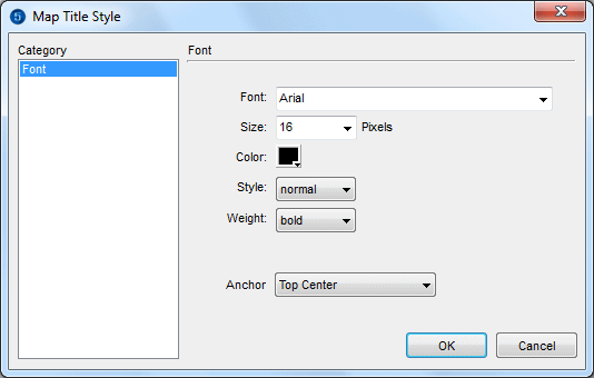 Map Title Style Settings