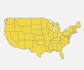 Interactive HTML5 Map of United States Mainland