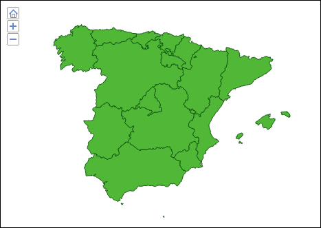 Cree Espaa mapa con el software que se puede leer en el