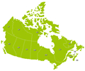 Canada Map with Abbreviations