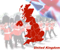 United Kingdom Map - Military Band Theme