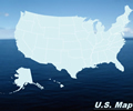 United States Map - Ocean Theme