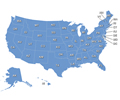 Interactive U.S. Map with State Abbreviations