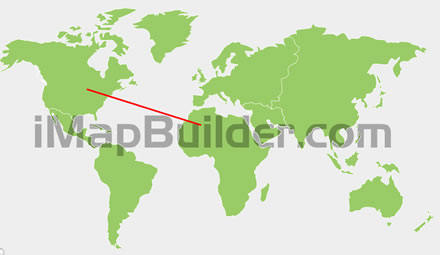 Draw line on a map with arrows showing directions Draw Direction Map on