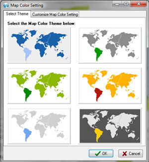 Color Your Own World Map.Customize Map Styles And Color Theme In Software