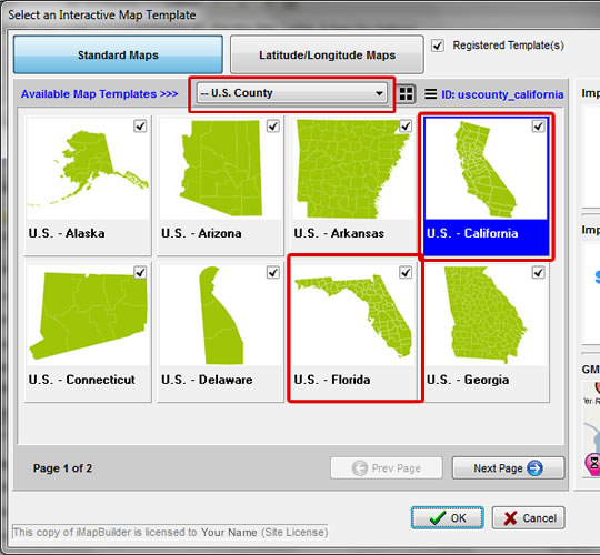 Create A Drill Down Map Of United States - Create us map