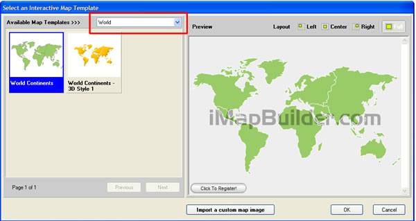 Create World map with software